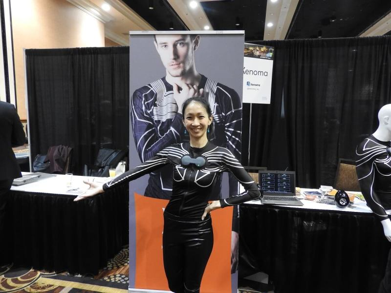 Xenoma's e-skin at CES Unveiled party at CES 2017.
