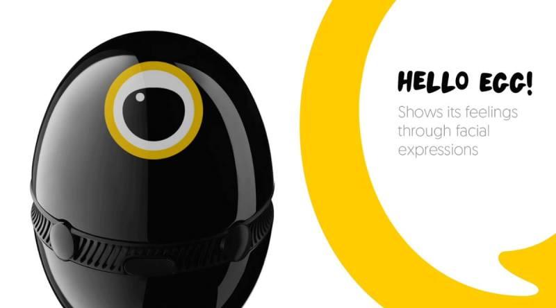 Hello Egg communicates with you via facial expressions.