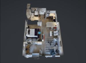 A three-dimensional floorplan for VR, from TorontoRentals