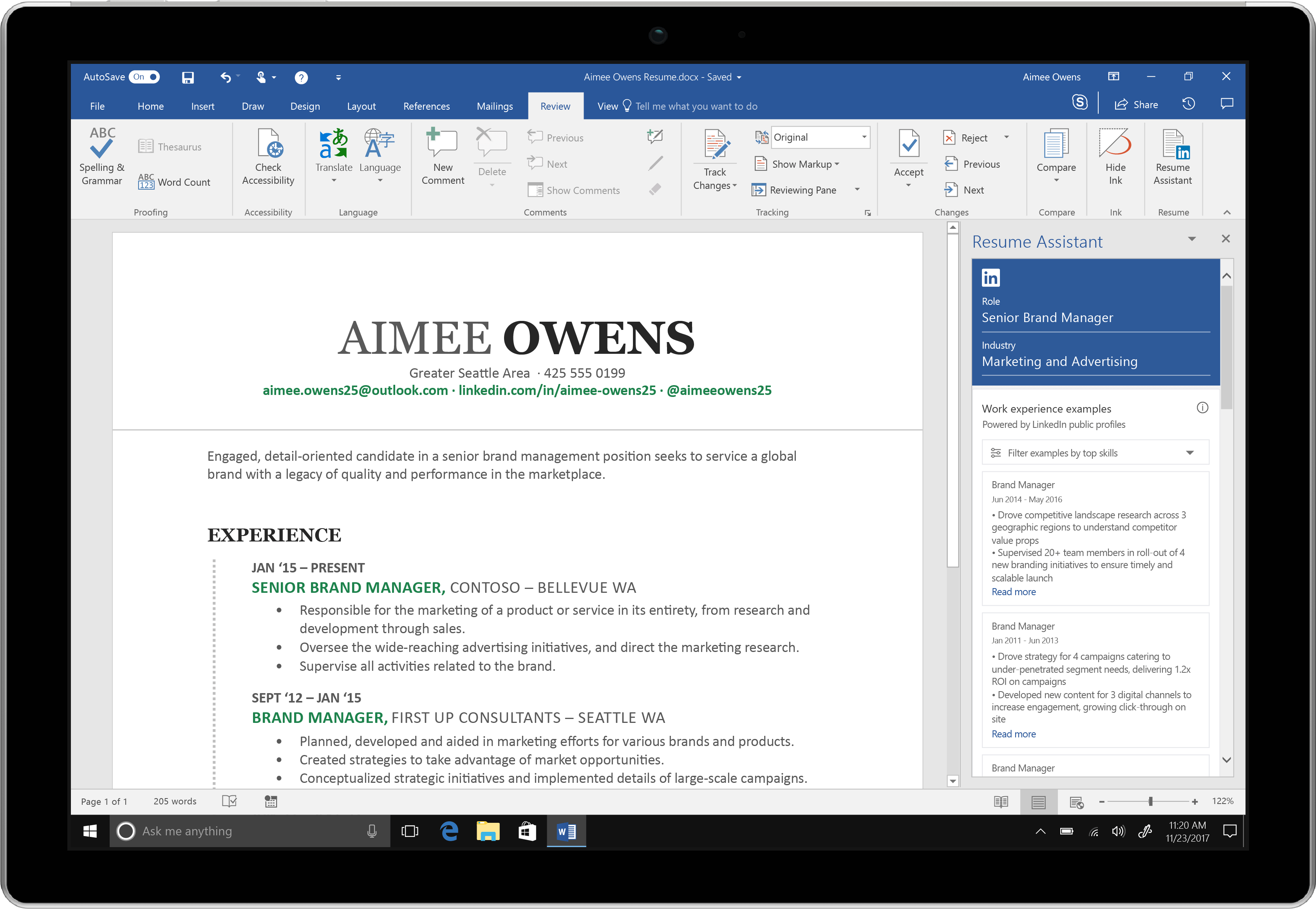 Microsoft Word Adds LinkedIn Powered Resume Assistant To