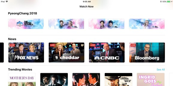 livetvios Apple adds live news videos and Winter Olympics coverage to iOS and Apple TV apps