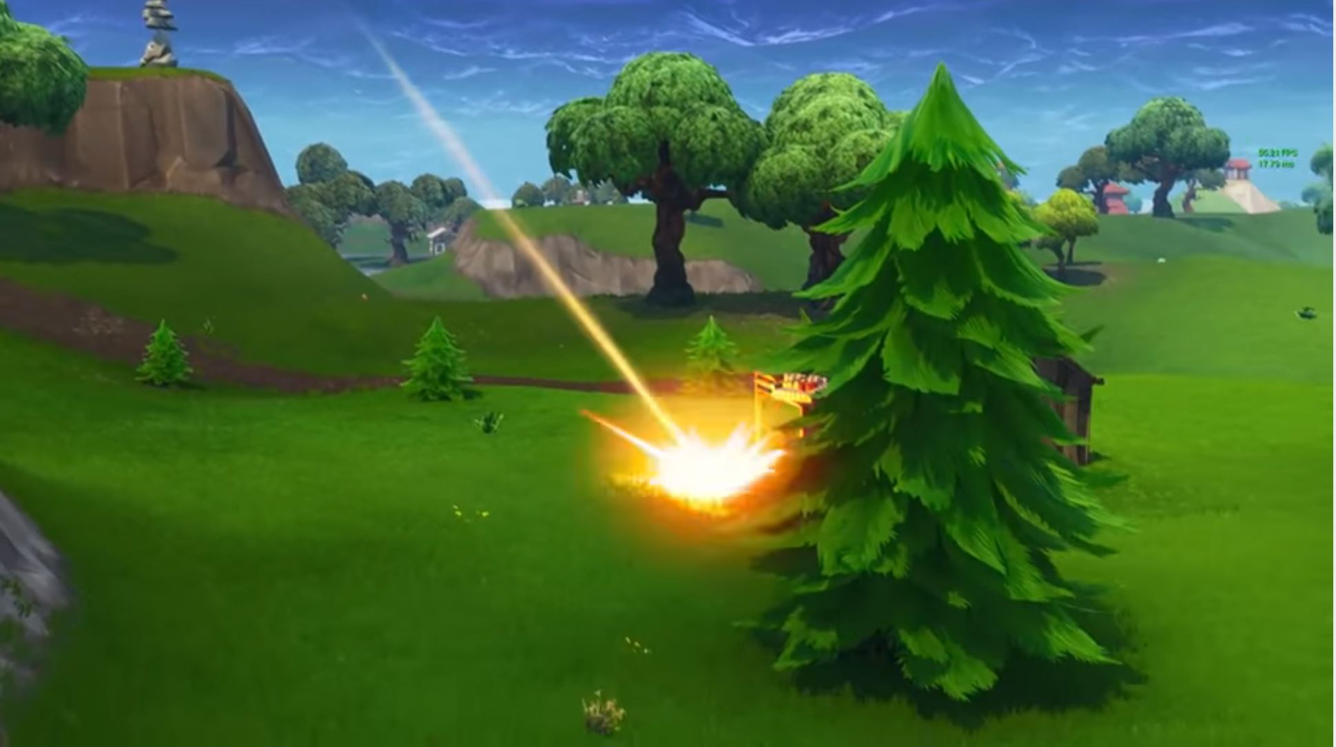 Watch Fortnites Meteorites Crash Near Players As Epic