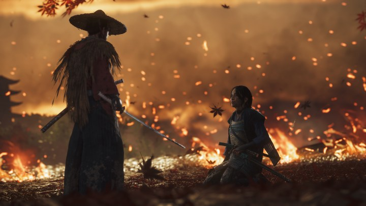 Jin squares off with Masako in Ghost of Tsushima.