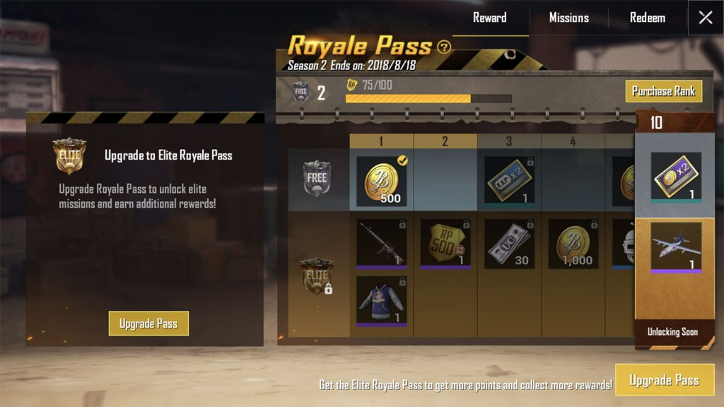 The Royale Pass in PUBG Mobile.