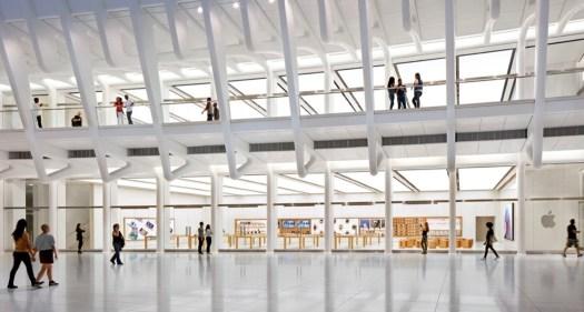 Apple's World Trade Center store.