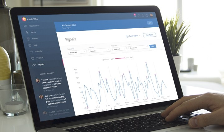 PredictHQ on a laptop