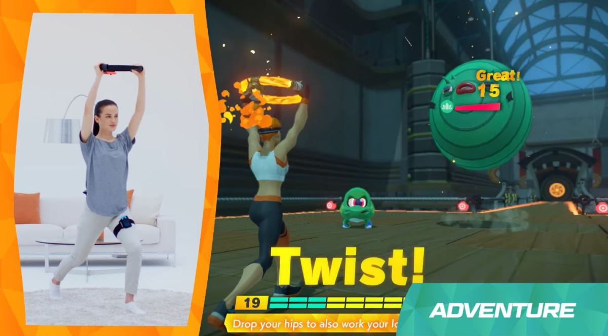 Ring Fit Adventure Is Nintendo Switch S Successor To Wii Fit Venturebeat