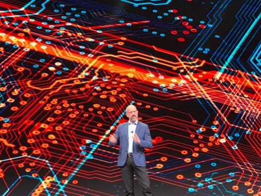 Simon Segars, CEO of Arm, onstage at Arm TechCon 2019.
