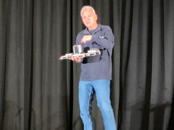 Martin Fink shows off Western Digital's latest RISC-V product.