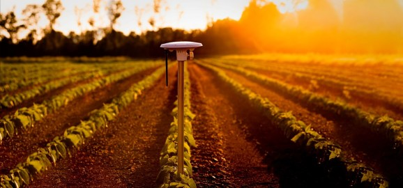 Arable's sensors can tell if crops are getting enough water.