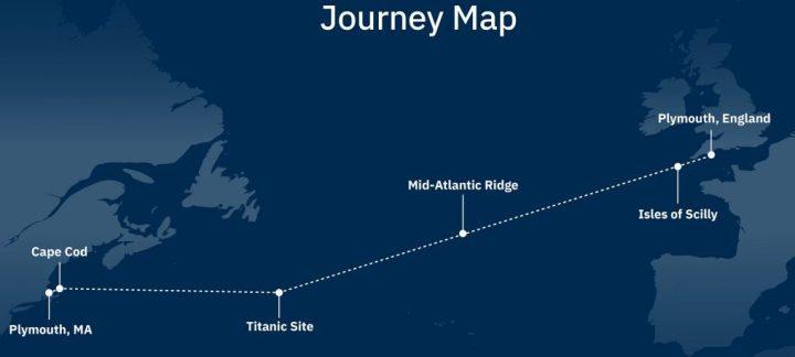 Mayflower Autonomous Ship route map