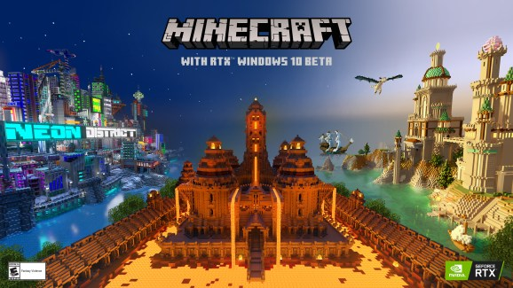 Minecraft with RTX is launching in beta April 16.