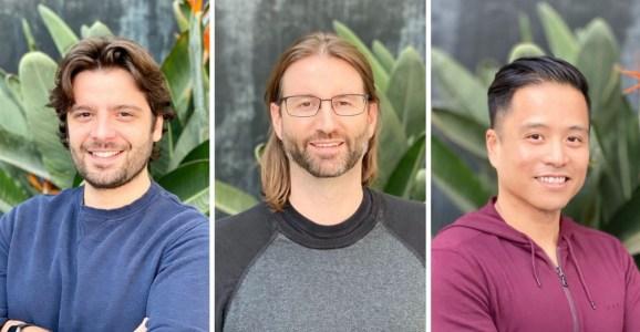PierPlay cofounders Lorenzo Nuvoletta, Scott Jablow, and Don Adriano.