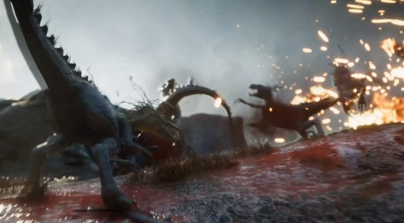 Second Extinction is a dinosaur-shooting co-op game.
