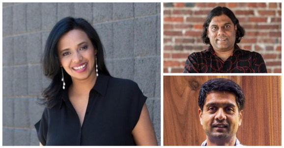 Left to right: Abacus.ai CEO Bindu Reddy,