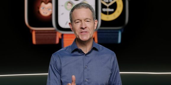 Apple COO Jeff Williams prepares to announce the Apple Watch SE, a stripped down version of its flagship wearables.