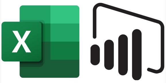 Microsoft Excel and Power BI logos