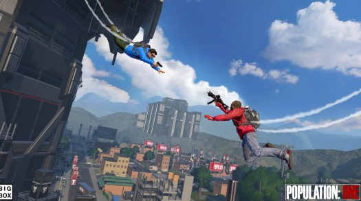 Population: One is a vertical combat battle royale game in VR.