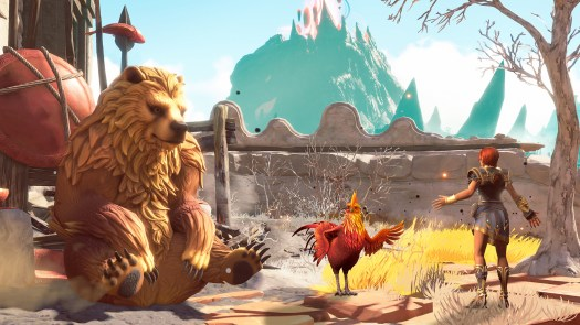 The God of War is a literal chicken.
