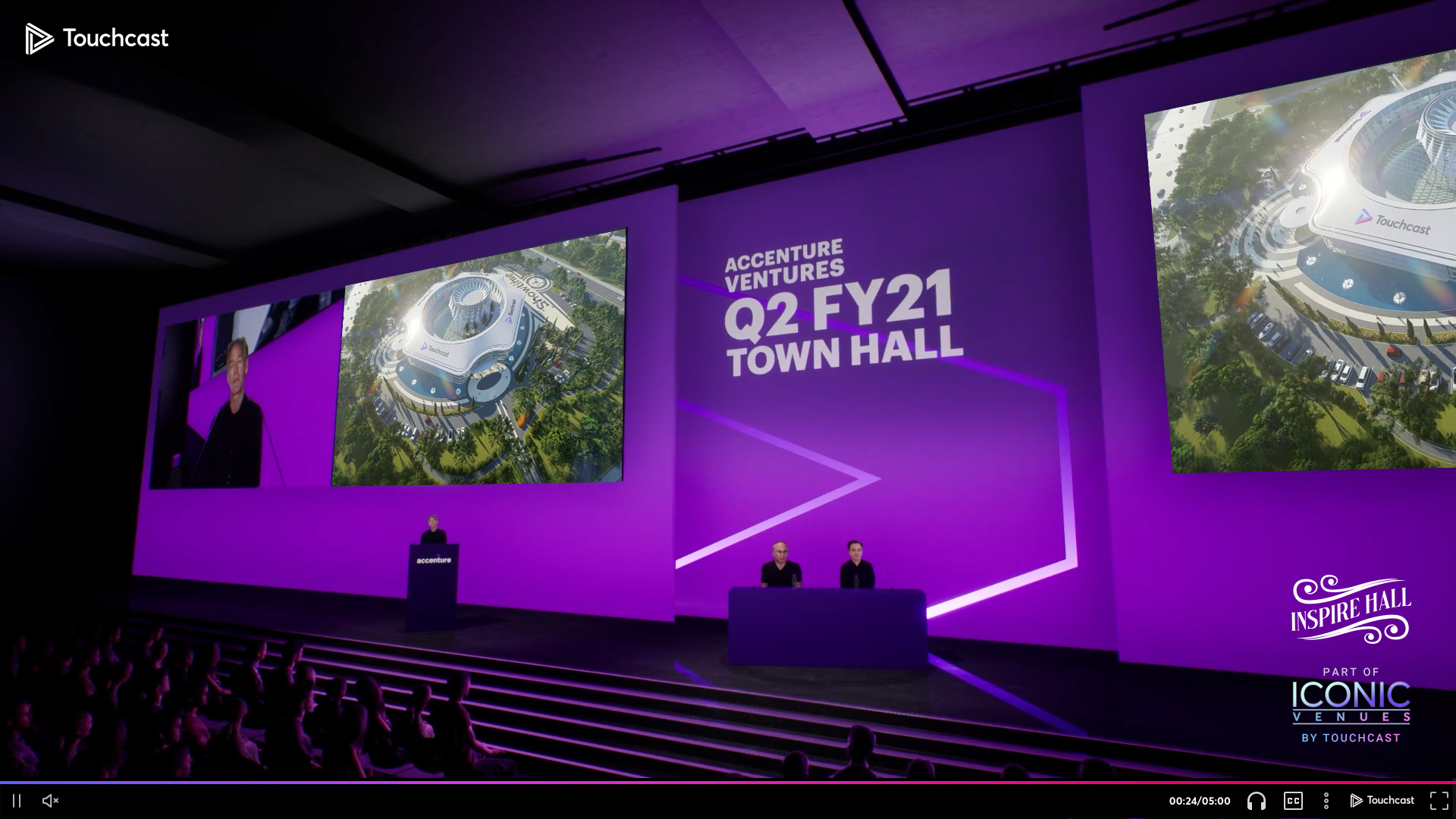 Virtual event hall within the Touchcast interface