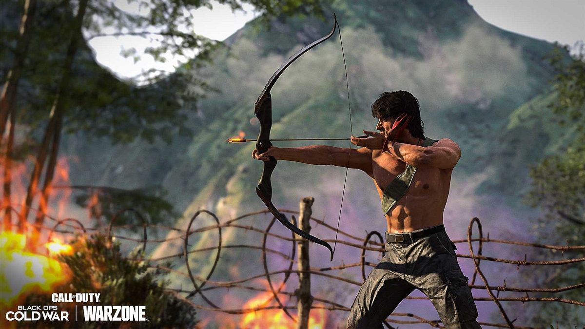 You can now be Sylvester Stallone's Rambo character in Call of Duty: Warzone.