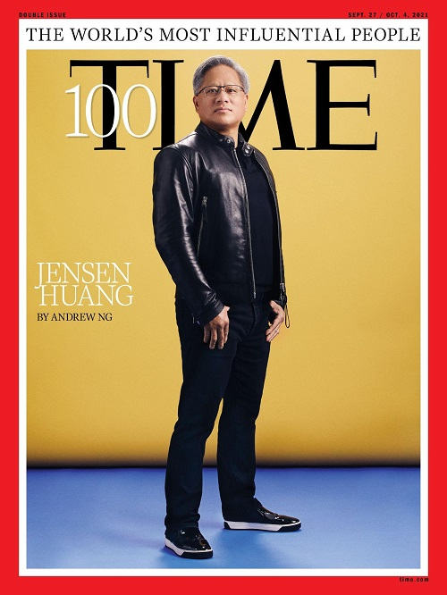 Nvidia CEO Jensen Huang is one of Time's 100 most influential people for 2021.