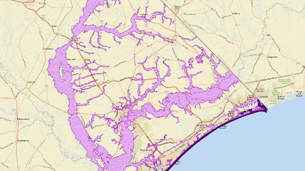 Map Sc County Horry Crime