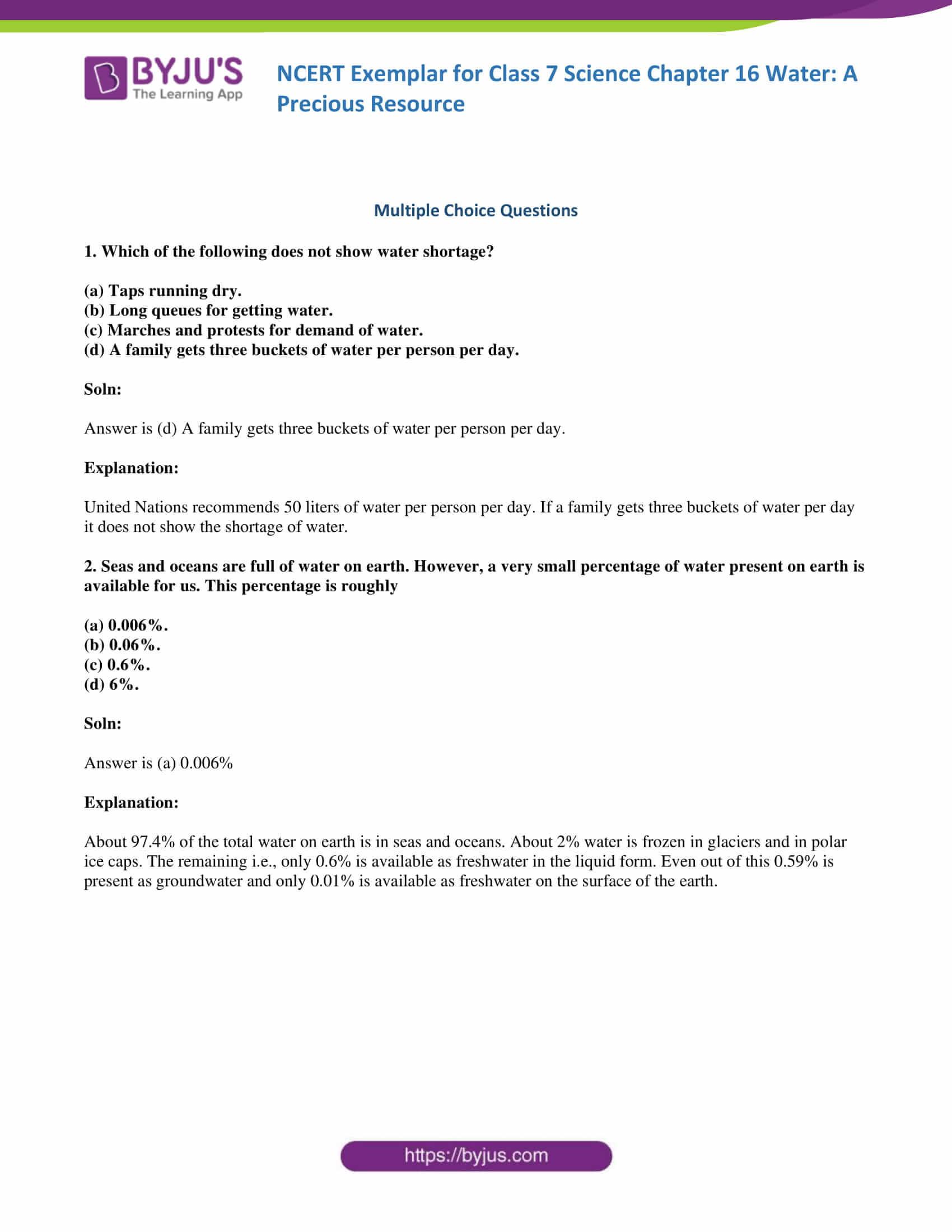 Planet Earth Freshwater Worksheet