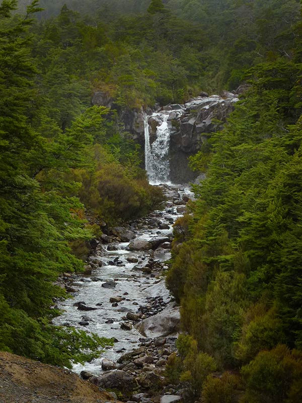 Waterfalls around Tongariro National Park: Ohakune Mountain Falls