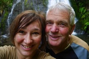 Us at Waihirere Falls