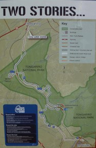Map of the Old Coach Road trail