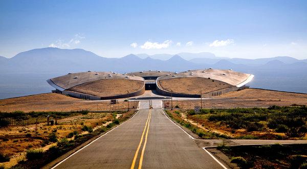 민간 우주기지 '스페이스포트아메리카'의 뉴맥시코 터미널. 비행기 공항처럼 우주여행 공항이다. @NYT