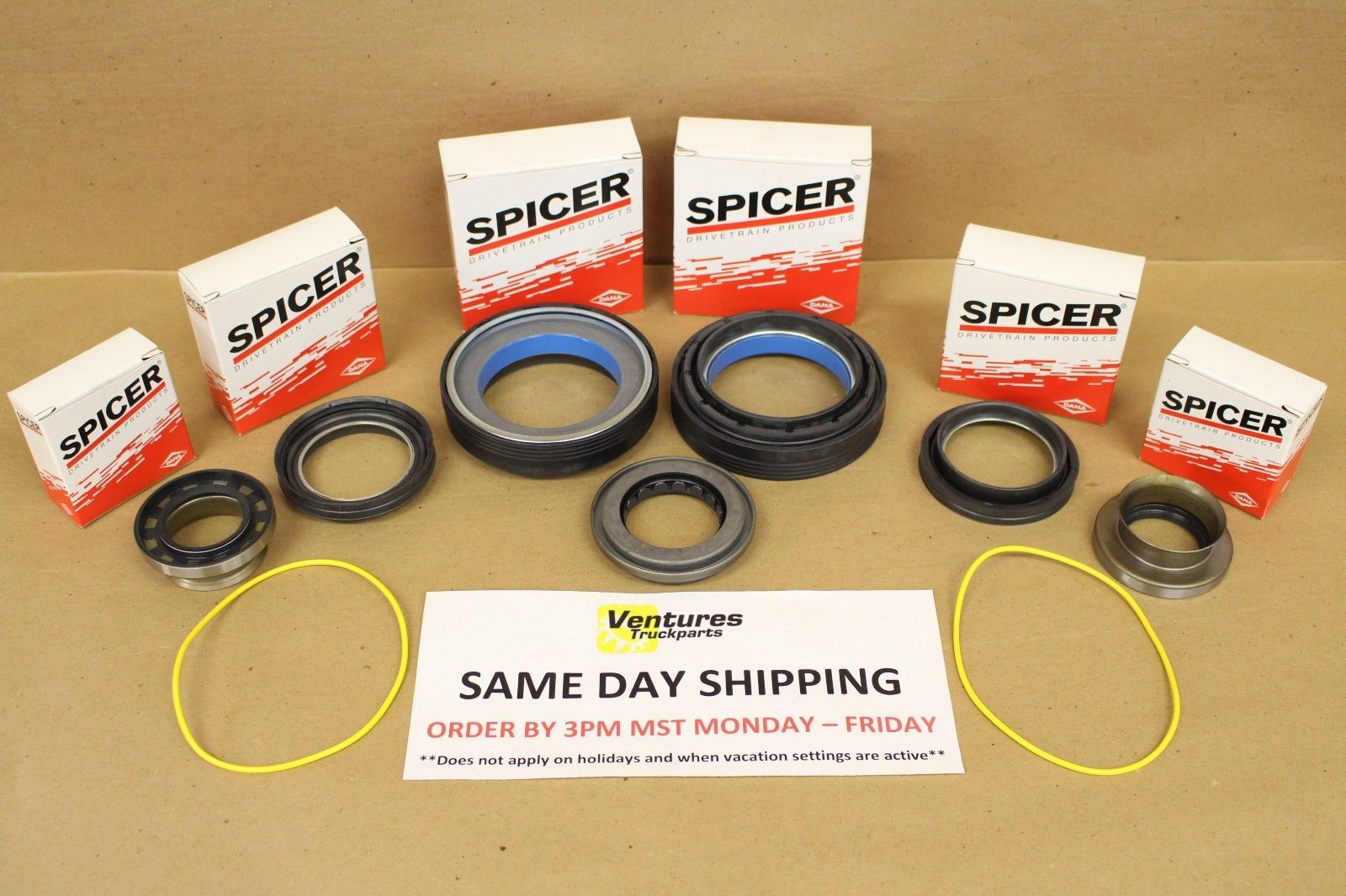 hight resolution of complete master seal kit ford super duty f250 f350 dana 50 front axle 98 01