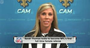 Sarah Thomas, first female NFL referee