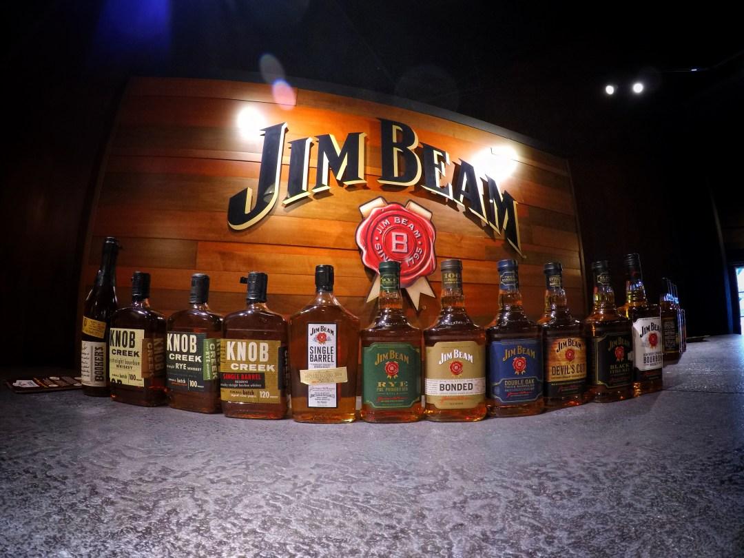 Bottles of Jim Beam Bourbon