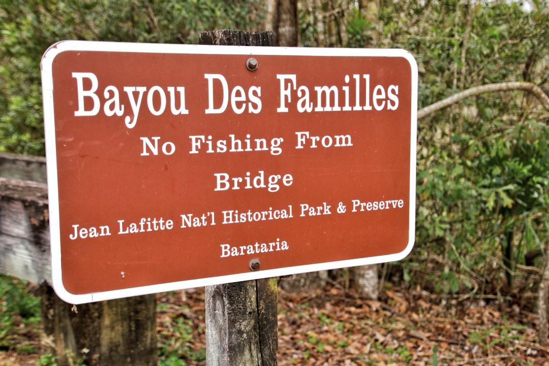 Jean Lafitte Bayou Sign
