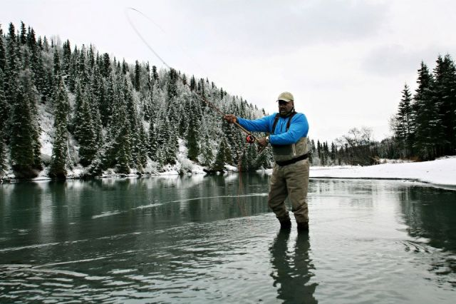 Alaska Winter Fly Fishing