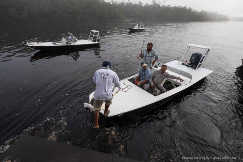 skiffs fly fishing Amazon