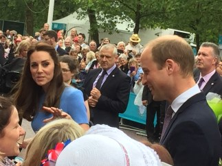 Kate making sure Nikki wasn't going to steal her Prince!