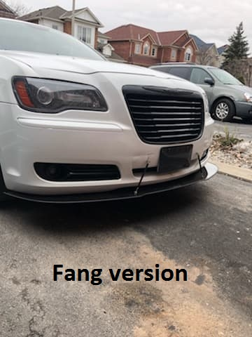 Chrysler 300 Black Grill : chrysler, black, grill, 2011-2014, Chrysler, Models, Front, Splitter, Ventus, Autoworks