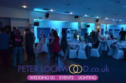 ice blue up lighting