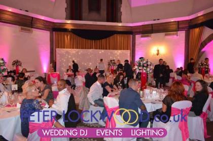 Shrigley Hall Hotel with Pink Up Lighting