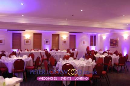 Crompton suite in Smokies Oldham with purple uplighting