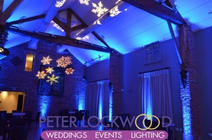 wedding lighting at Arley Hall by peter lockwood