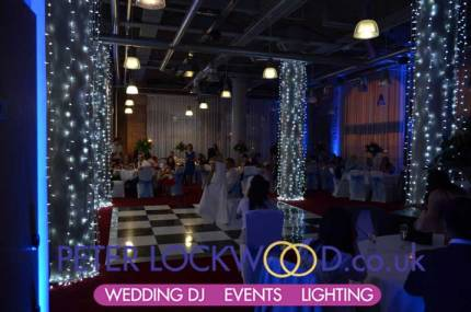 blue-wedding-lighting-with-white-pillar-lighting-in-the-place-hotel-manchester