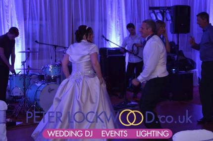 wedding lighting in Hollins Hall yorkshire