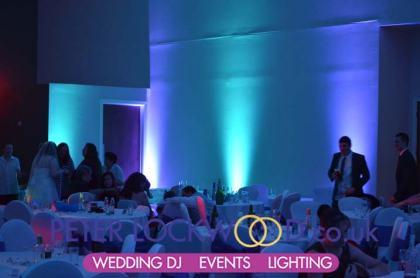 wedding uplighting in Irish World Heritage Centre