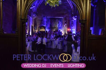 peckforton castle wedding lighting