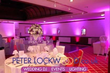 cerise wedding mood lighting