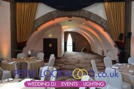 tilden suit at shrigley hall hotel wedding lighting